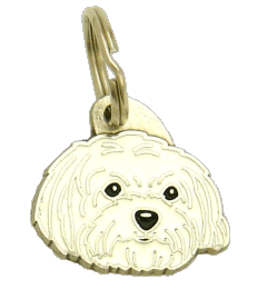 MALTESE HAIRCUT - pet ID tag, dog ID tags, pet tags, personalized pet tags MjavHov - engraved pet tags online